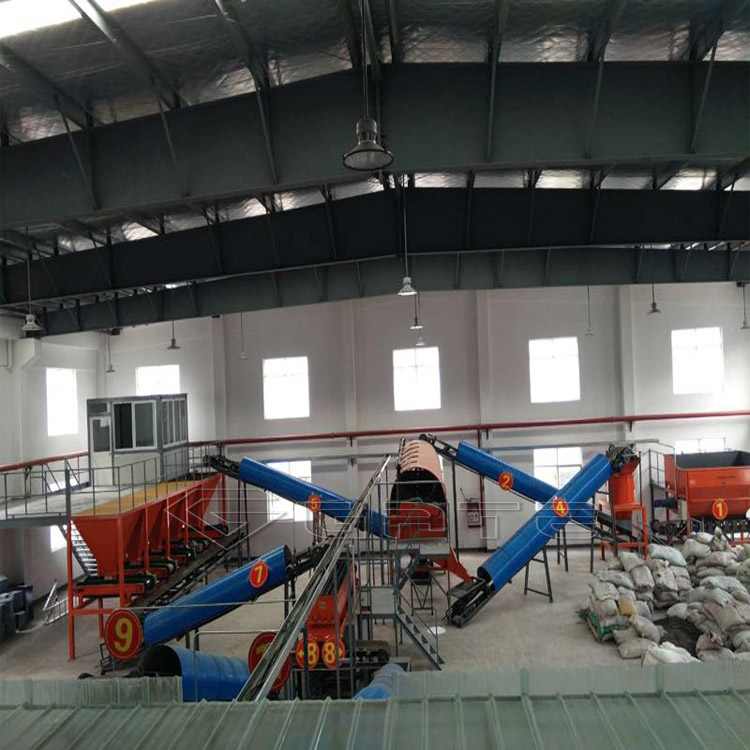 high output cow manure organic fertilizer production line for commercial use brasil