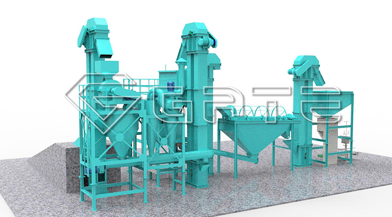 Double Roller Fertilizer Granulator Plant Design