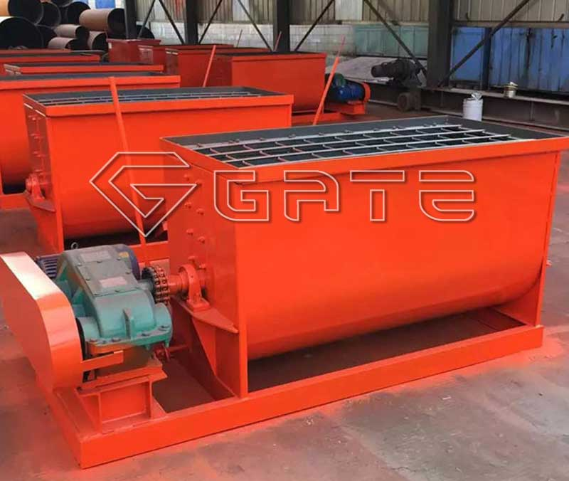 single shaft feed mixer for fertilizer