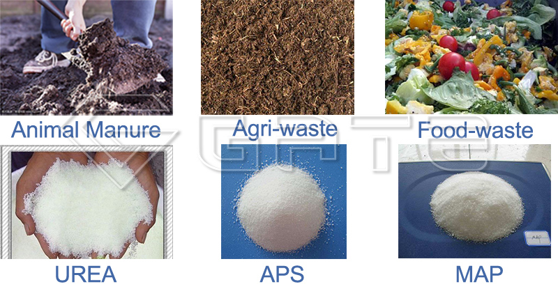 Raw Materials for Fertilizer Granulator