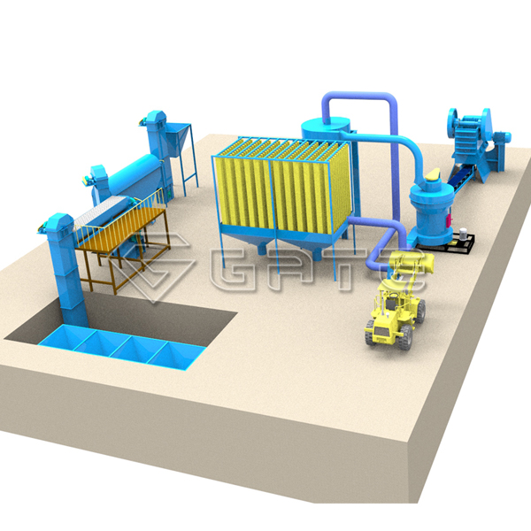 buy compound fertilizer production process line for sale