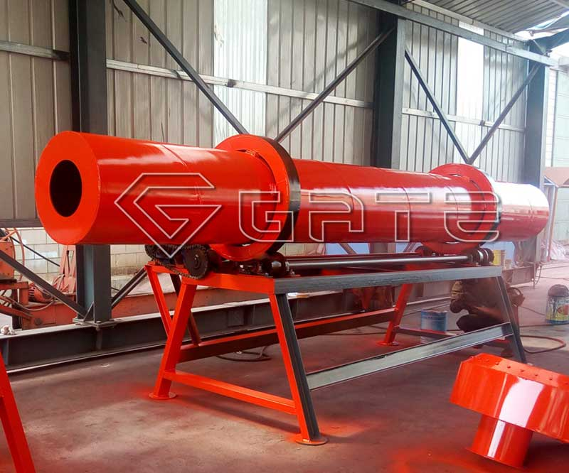 rotary cooler for fertilizer