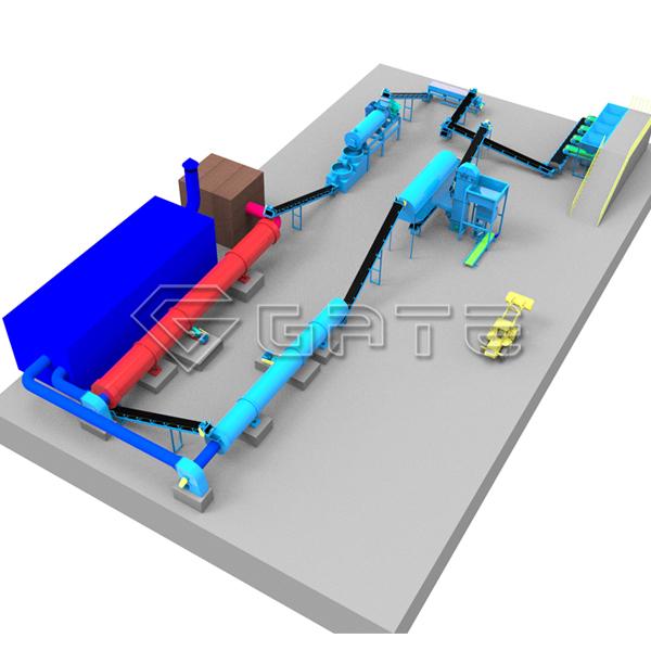 factory supplier npk fertilizer production line for sale