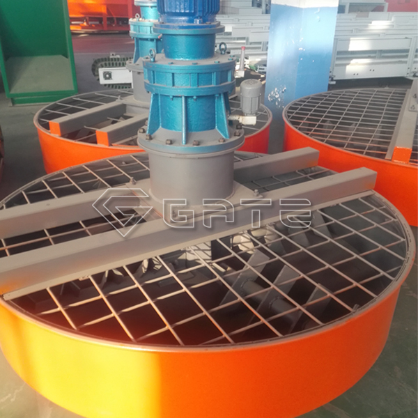 Stirred evenly pan mixer for fertilizer machine